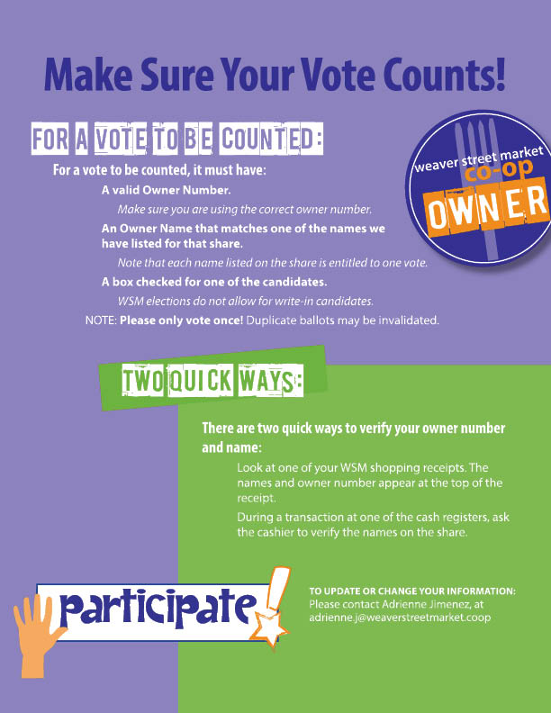 ballot instructions poster
